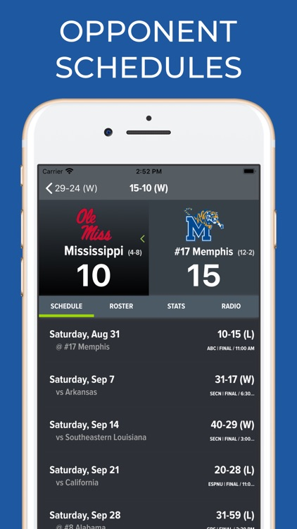 Memphis Football Schedules screenshot-7