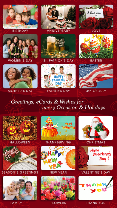 Screenshot #1 pour Greeting Cards & Wishes