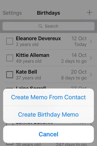 Birthday Memo - náhled