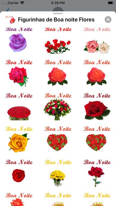 Figurinhas de Boa noite Flores screenshot 2