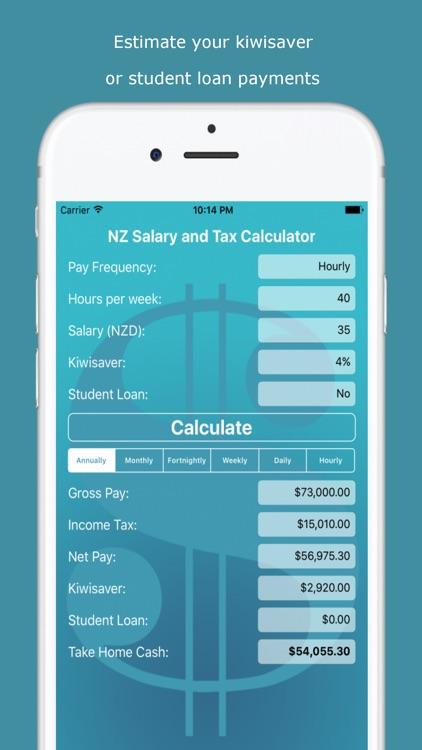 NZ Salary and Tax Calculator screenshot-4