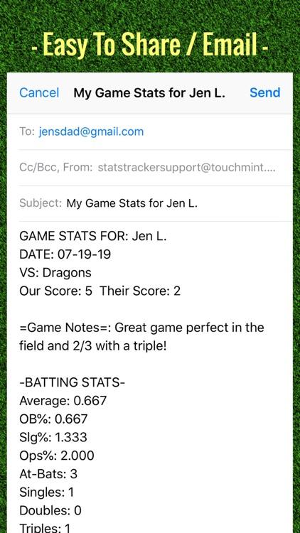 Softball Stats Tracker Pro screenshot-4