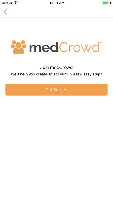 medCrowd: instant messaging screenshot one