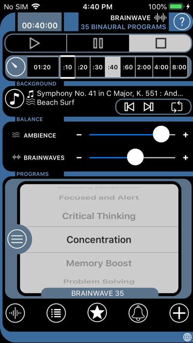 Brain Wave 35 Binaural Series review screenshots