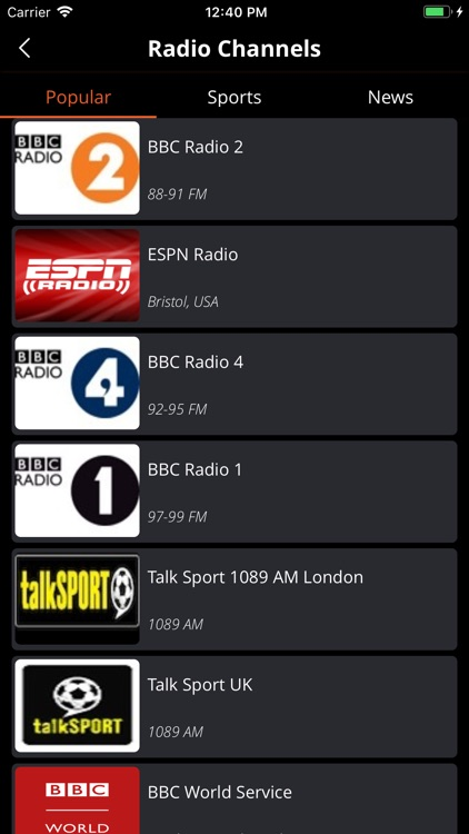 Live Sport FM: Radio & News 24 screenshot-7
