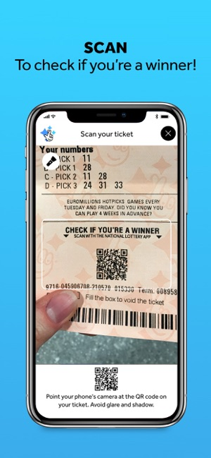 Official lottery app