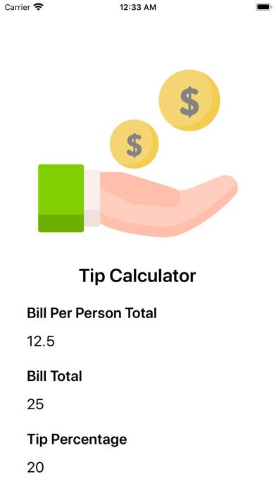 Tip Calc   NS Screenshot