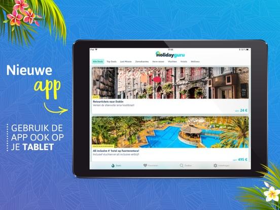 Holidayguru.nl > Vakantiedeals iPad app afbeelding 1