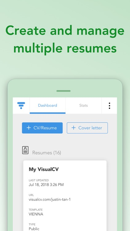 VisualCV Resume Builder screenshot-1