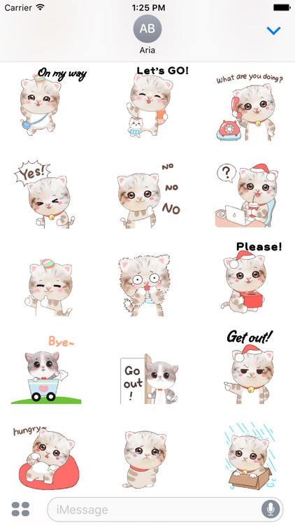 Animated So Cute Kitty Sticker