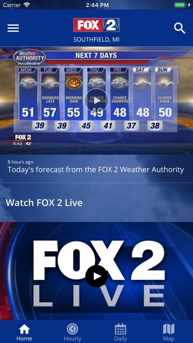 Screenshot for FOX 2 Weather – Radar & Alerts in United States App Store