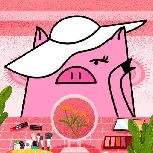 Pig mob sticker