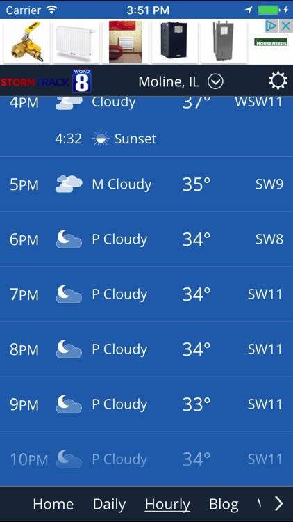 WQAD Storm Track 8 Weather screenshot-3