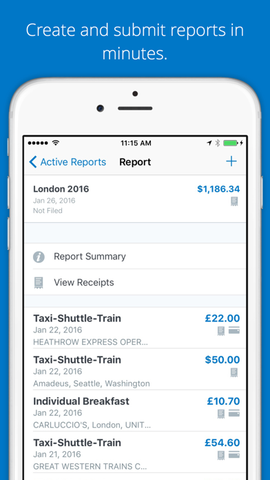 SAP Concur by Concur (iOS, United States) - SearchMan App Data