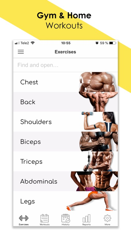Fitness: Workout for Gym|Home screenshot-0