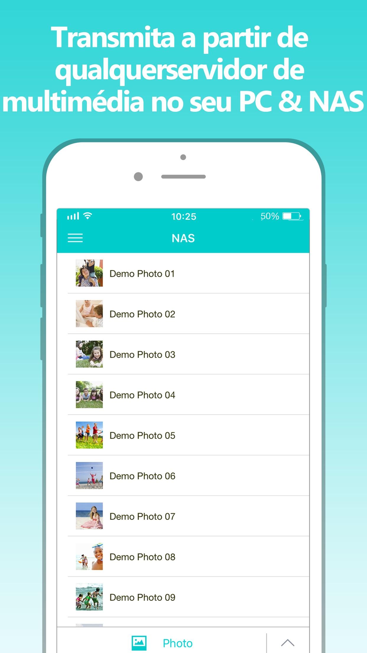 Screenshot do app Nero Streaming Player