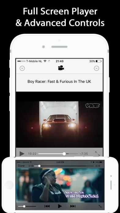 Video Media Player app - HD TV Screenshot on iOS
