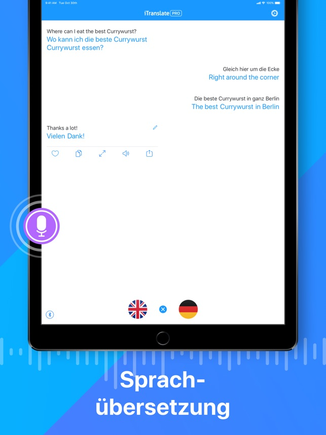 iTranslate Übersetzer Screenshot