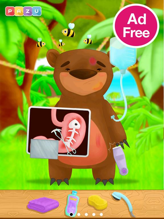 子供向けのジャングル獣医ゲーム Animal Doctorのおすすめ画像1