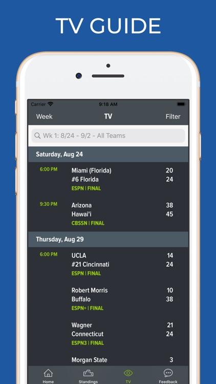 Connecticut Football Schedules screenshot-6