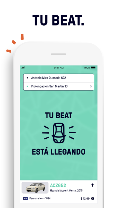 Screenshot for Beat - Ride app in Colombia App Store