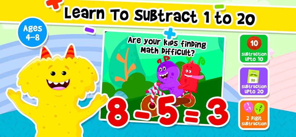 Addition Subtraction for Kids! hack tool