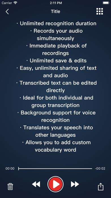 Voice Dictation - SpeechyScreenshot of 2