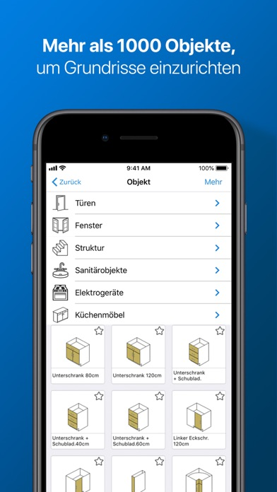 Screenshot for magicplan – 2D/3D Grundrisse in Germany App Store