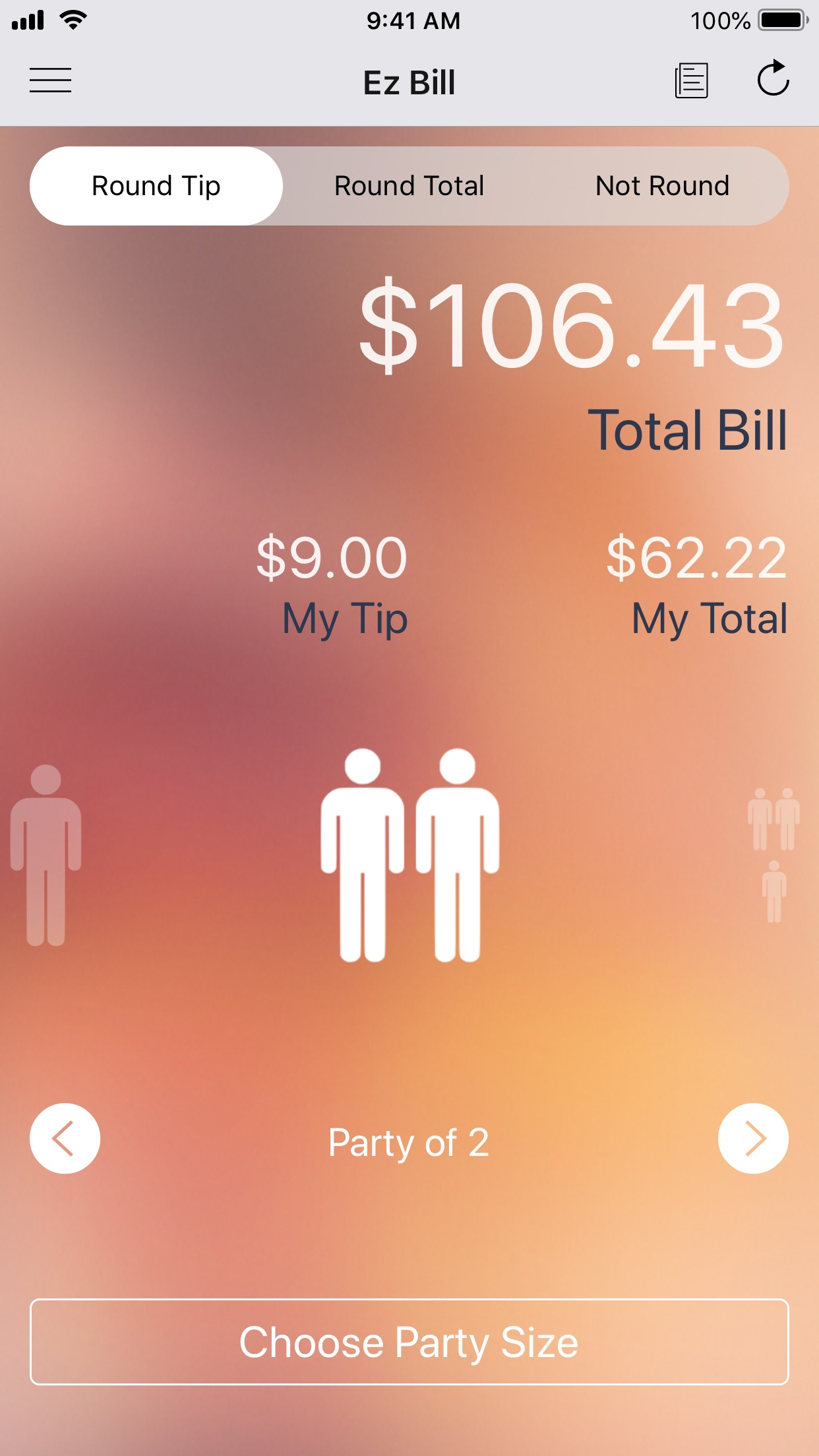 Ez Bill - Tip Calculator Screenshot