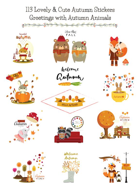 Autumn - Greetings with Animal screenshot 6