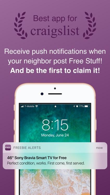 Freebie Alerts for Craigslist screenshot-0