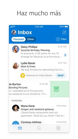 Screenshot for Microsoft Outlook in Spain App Store