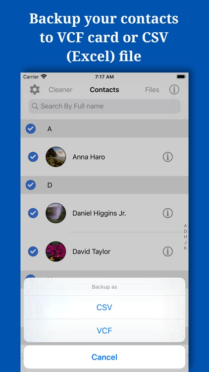 Backup And Manage Contacts
