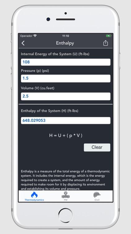 Thermodynamics Calculator screenshot-6