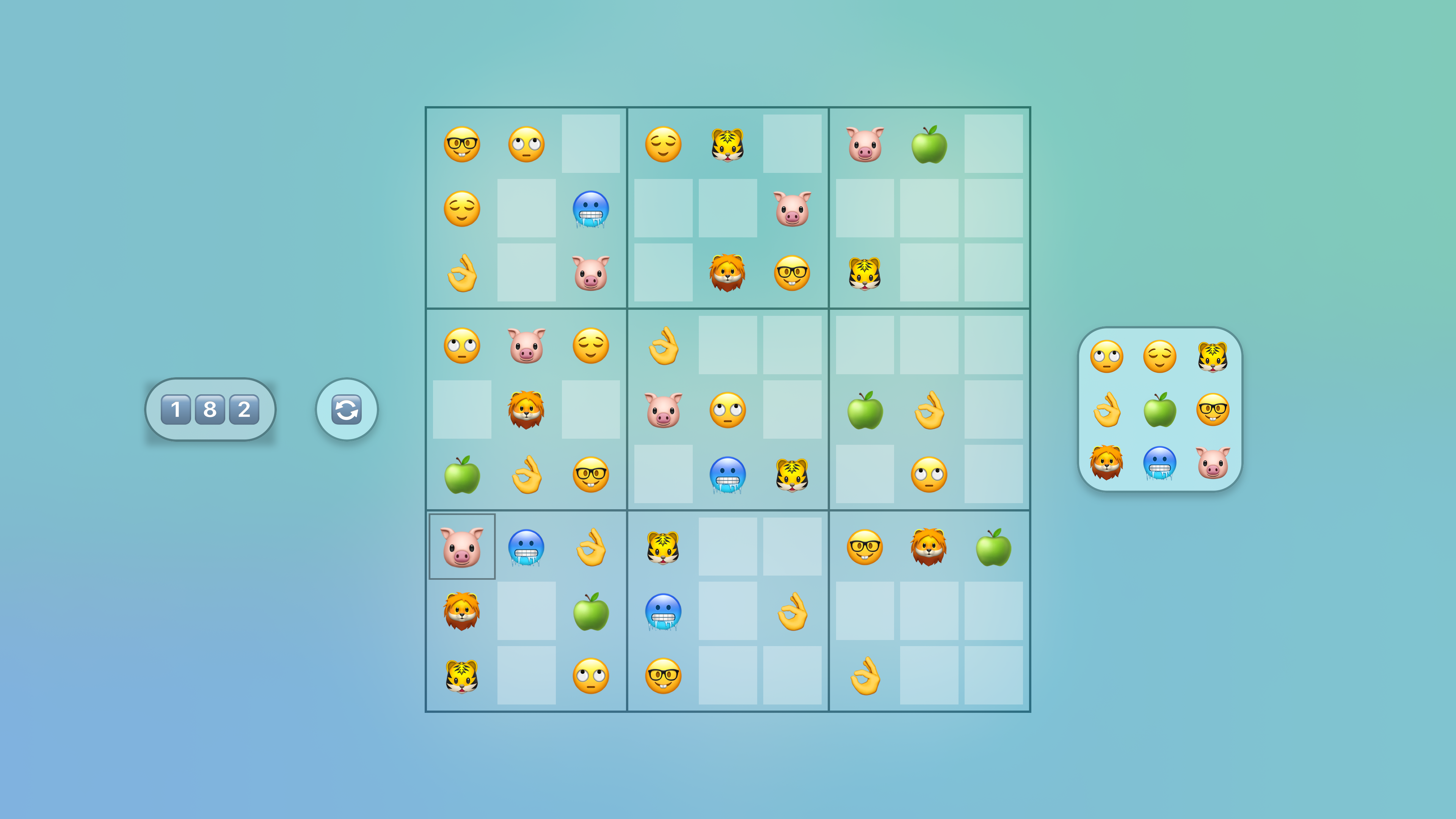 Jan's Emoji Sudoku screenshot 9