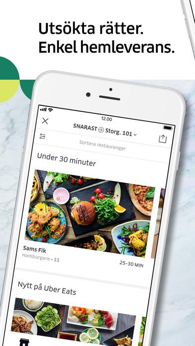 Screenshot for Uber Eats: matleverans in Sweden App Store