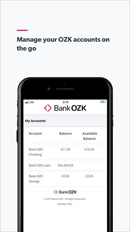 Bank OZK Mobile screenshot-1