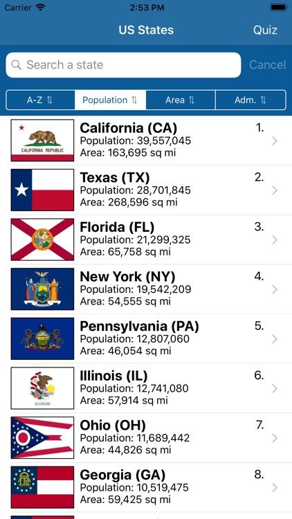US States Flags Seals Quiz screenshot-7