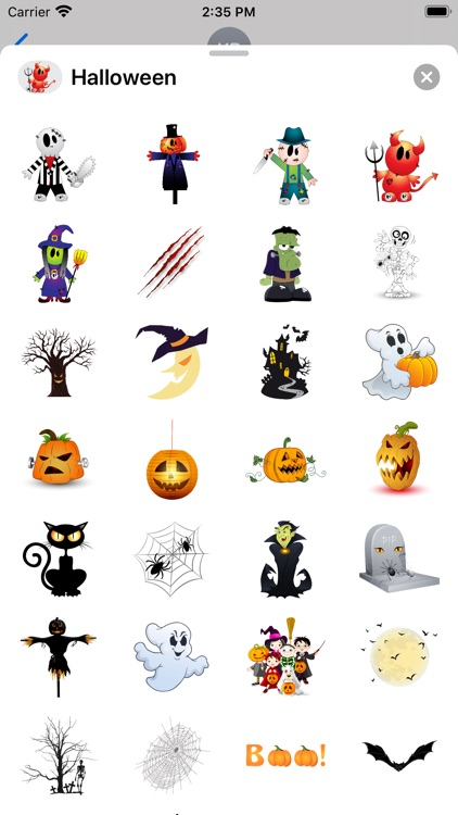 Halloween BOO! Scary Stickers