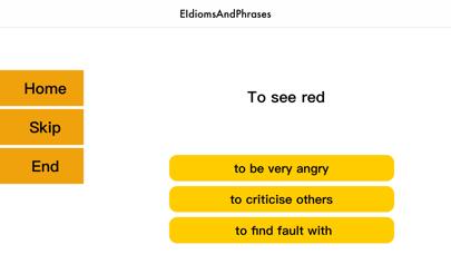 EIdiomsAndPhrasesMCQ screenshot 2