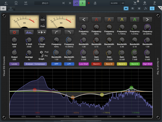 Visual EQ Console AUv3 Plugin screenshot 9