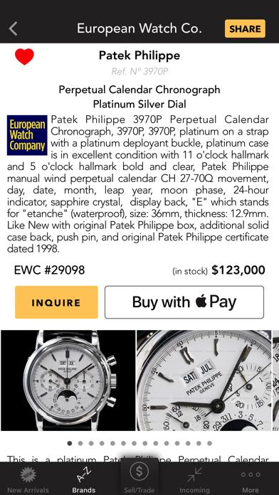 European Watch Co: buy watches screenshot two