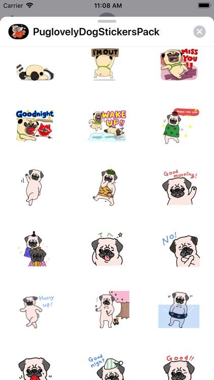 Pug love Dog Stickers Pack screenshot-7