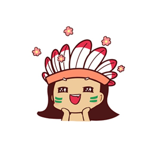 Indian Girl  Animated Stickers