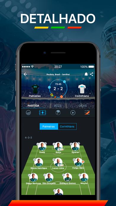 Screenshot for 365Scores - Resultados ao vivo in Brazil App Store