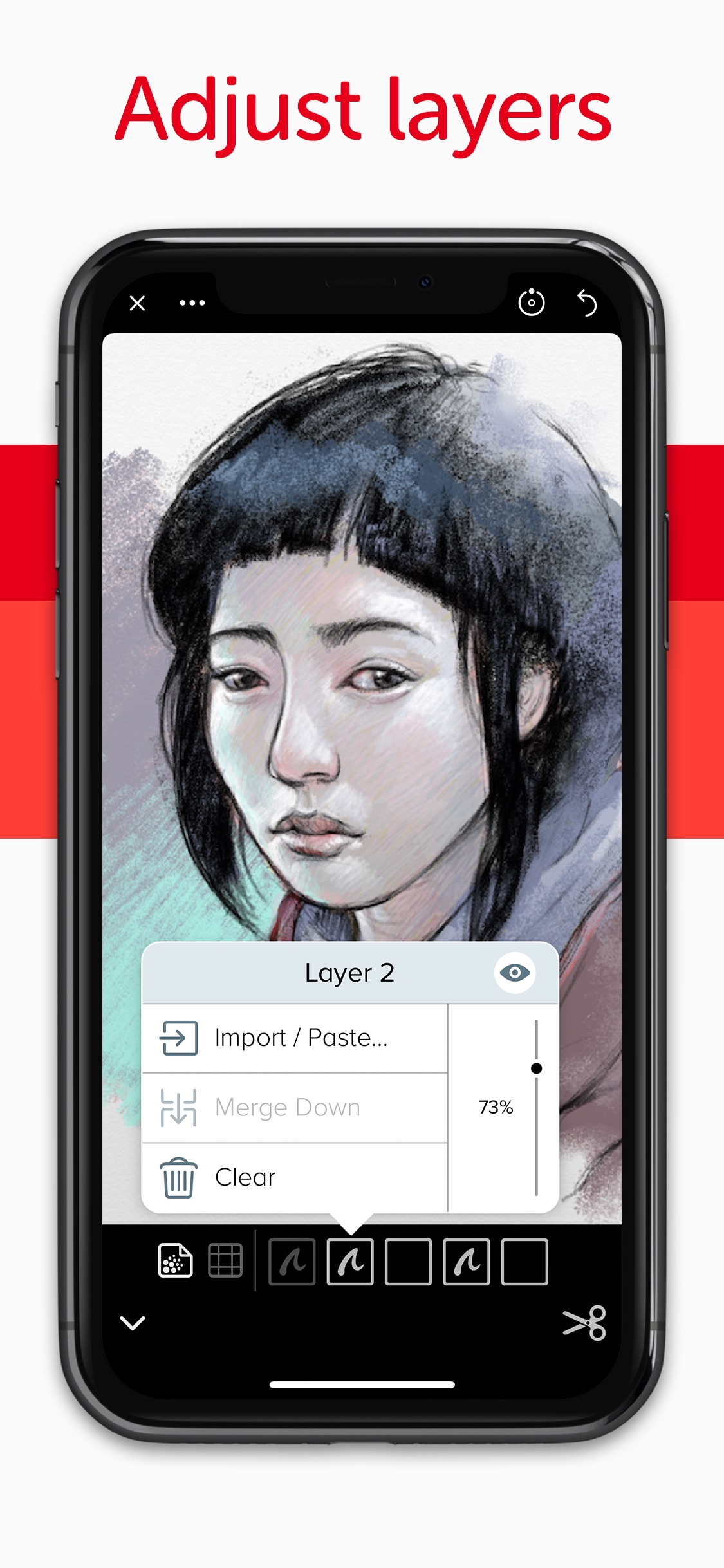 Screenshot do app Linea Sketch