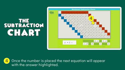 Montessori Subtraction Charts screenshot 4