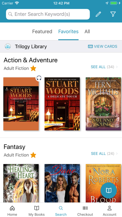 Screenshot for cloudLibrary by bibliotheca in United States App Store