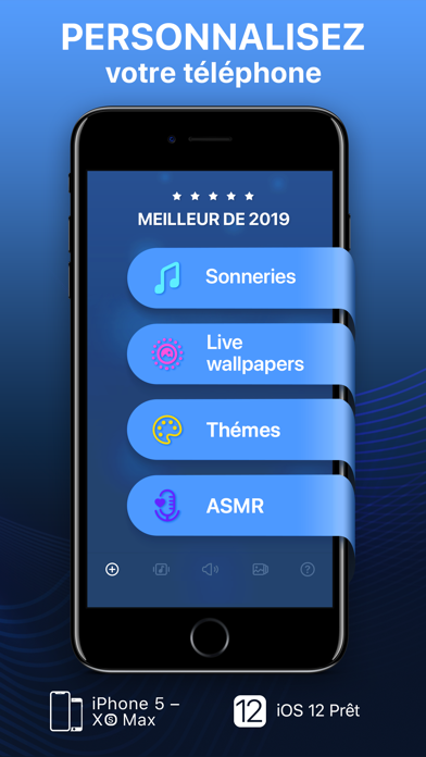 Screenshot for Sonneries et fonds d'écran in France App Store