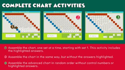 Montessori Subtraction Charts screenshot 6